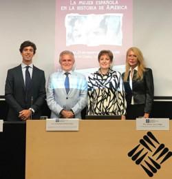 Lucas Montojo, el vicerrector de la UFV, la Embajadora de México y Cristina Escribano