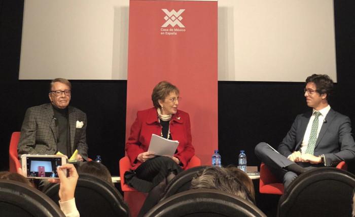 Emb. Walter Astié-Burgos, Emb. Roberta Lajous y Dr. Lucas Montojo
