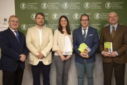 Miembros del CUHC en la inauguración de izquierda a derecha: S. Murgui, A. Hurtado, Rosa Cernada Vicedecana, F. Cardells-Martí  Director y M. Aparici.