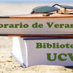 Horario de verano en la Biblioteca UCV