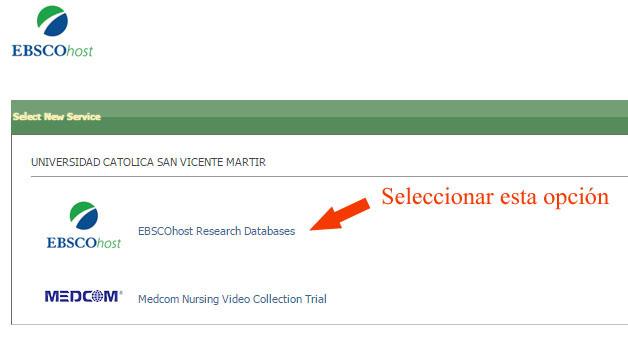 Bases de Datos EBSCOhost