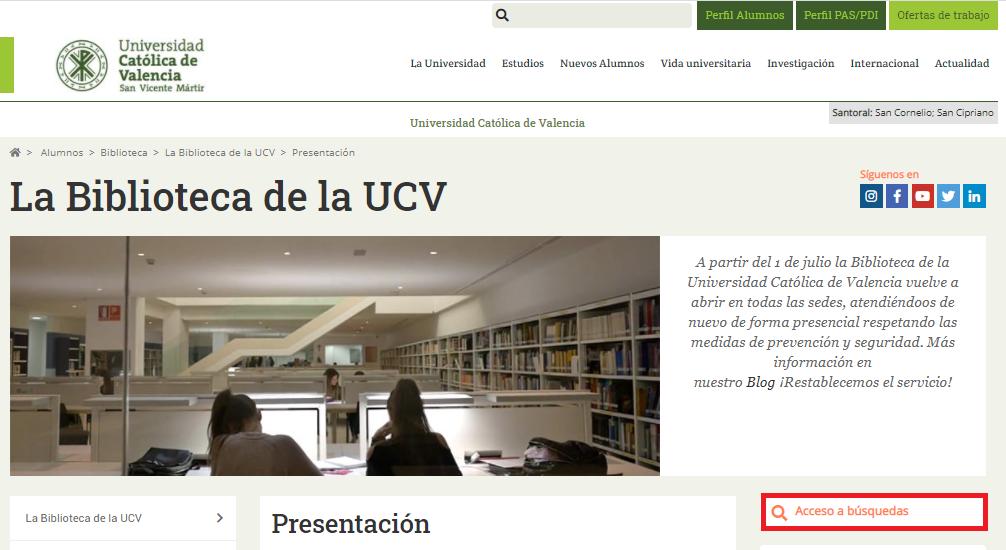 Web Biblio UCV