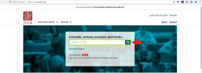 Búsqueda sencilla JSTOR