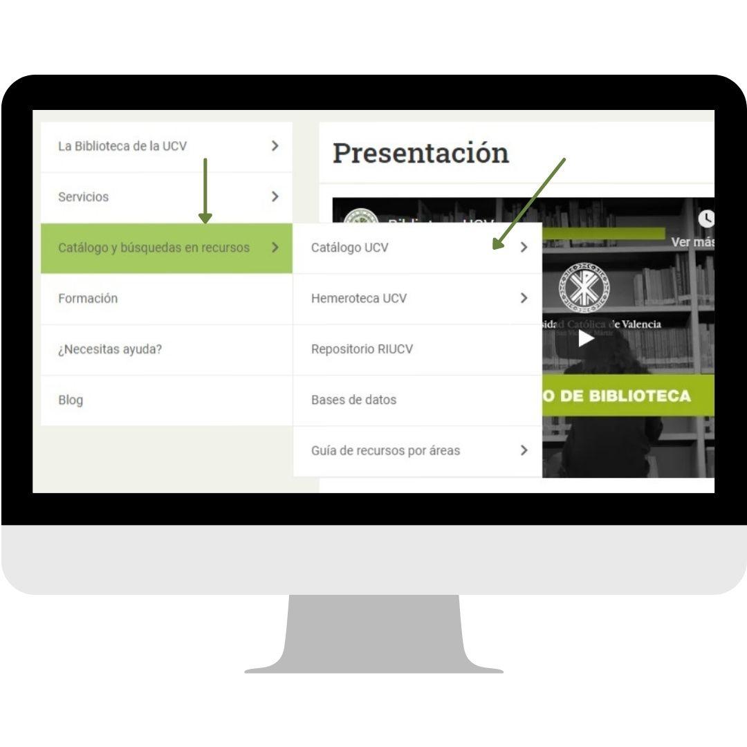 Pantallazo recursos web biblioteca