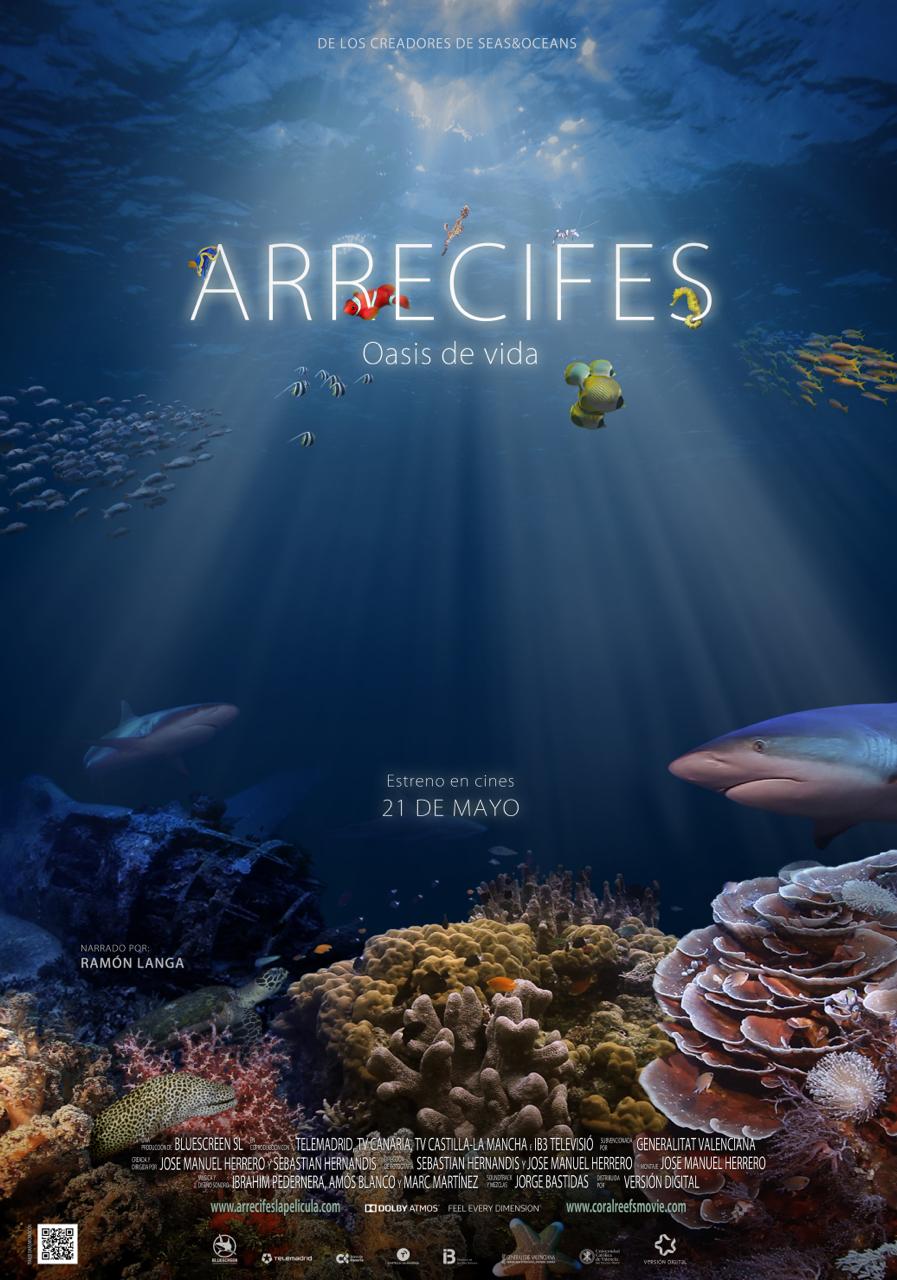"""Portada de la película """"Arrecifes. Oasis de vida"""" rodada con el asesoramiento de la Universidad Católica de Valencia"""