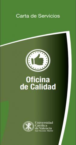 Tríptico Carta de Servicios Oficina de Calidad