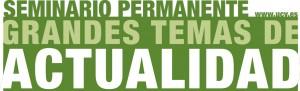 Cartel promocional del Seminario Permanente Grandes Temas de Actualidad