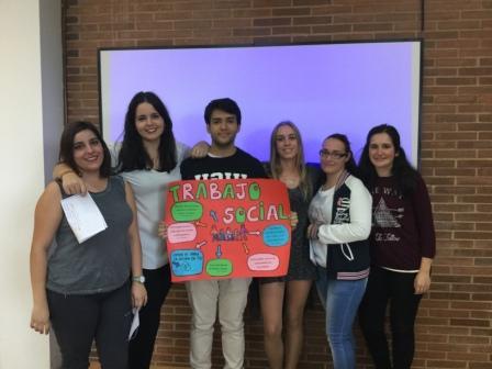 Trabajo social - Grupo 2: Aurora Pérez, Débora Villegas, Joâo Jorge Massaneiro, Ahinoa Jover, Ariane Liberos y Lourdes Mª Martí