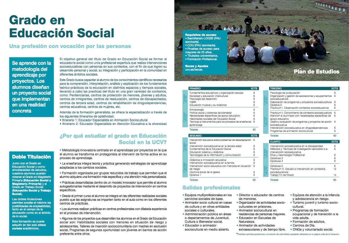 Grado en Educación Social  - Información