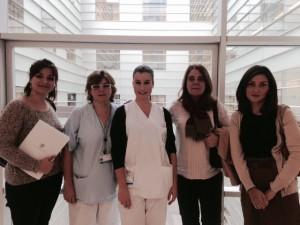 Prácticas de Enfermería de alumnos de la Universidad Católica de Valencia