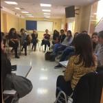 Los alumnos de la facultad de Enfermería preparan la peregrinación con el equipo pastoral