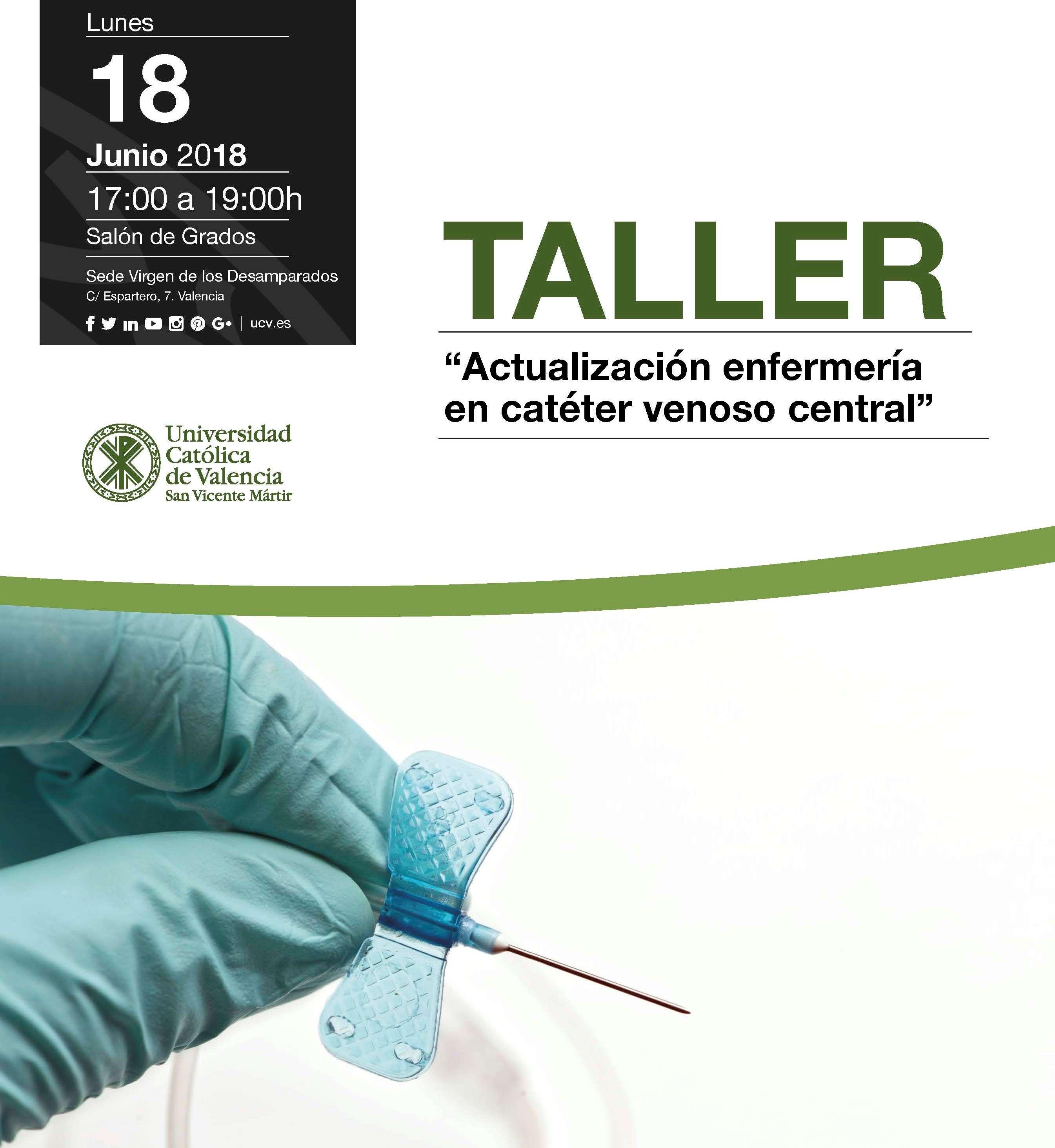 Lunes 18 de Junio Taller gratuito: Actualización enfermería en ...