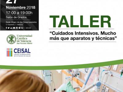 27-11-18 Cartel Jornada CeisalTaller gratuito Cuidados Intensivos