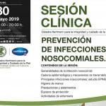 """Sesión Clínica: """"Prevención de Infecciónes Nosocomiales"""". Jueves 30 de Mayo."""