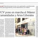 La UCV pone en marcha un Máster en Humanidades y Artes Liberales