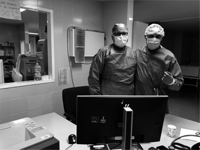 Pedro (Izq.) José Luis (dcha) - Médicos de Urgecias