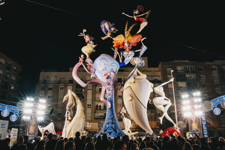 One of the sculptural Fallas of Fallas 2017