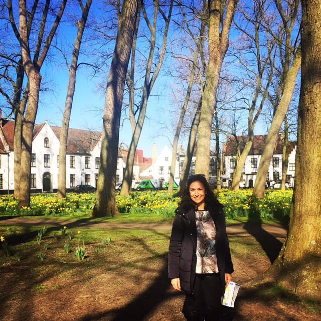 La Dra. Ferrer en el campus de Katholieke Hogeschool Vives.