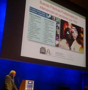Javier Tamarit en el Congreso de profesionales del autismo