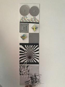 Opt-Art creada por Rosa María Machí Sebastián. Estudiante de Educación Plástica y su didáctica, 3º Grado en Maestro de Primaria ONLINE. UCV. Curso 2016-17