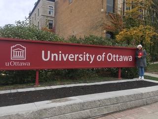 Natalia Mula en la Universidad de Ottawa