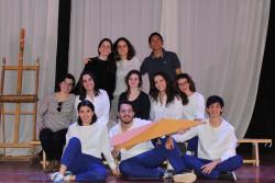 Aula de teatro: Docentes y alumnos