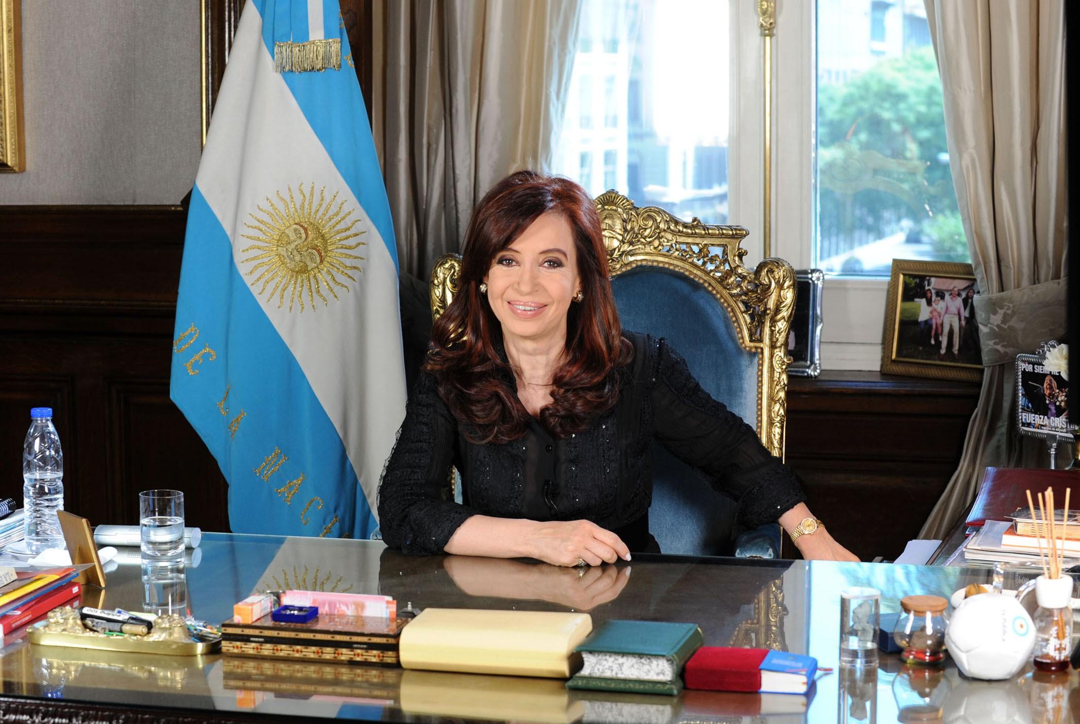 Cristina Fernández de Kirchner Presidenta de Argentina