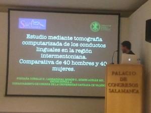Presentación de un proyecto de la Universidad Católica de Valencia en el SECIB 2014