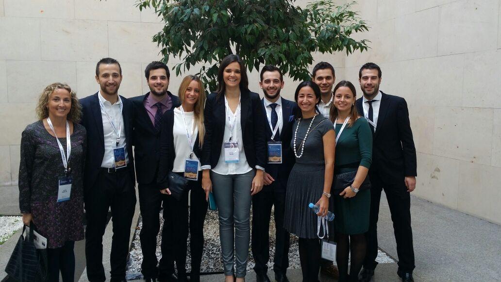 Alumnos y profesores de la Universidad Católica de Valencia en el SECIB 2014