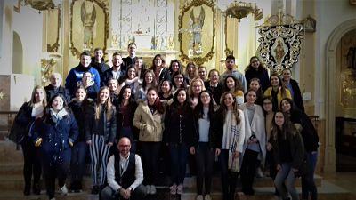 Peregrinación de los alumnos de enfermería de Alzira