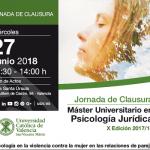 Jornada de Clausura del Máster Universitario en Psicología Jurídica. La psicología en la violencia contra la mujer en las relaciones de pareja
