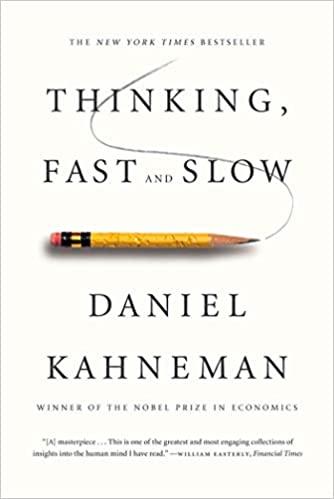 libro, pensar rápido, pensar despacio