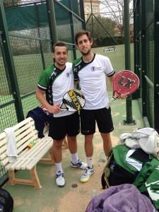 Jorge Pascual y Luis Parra. Oro en masculino.