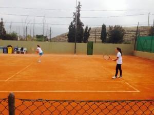 Laura Roig y Carmen Penades en dobles