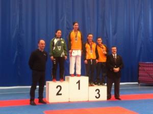 Rocío Huerta en el podio.