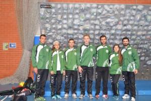 Nuestros deportistas UCV antes del inicio de la competición