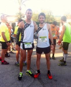 Nuestros deportistas de izquierda a derecha, Adrián Valverde y Ronan Damser