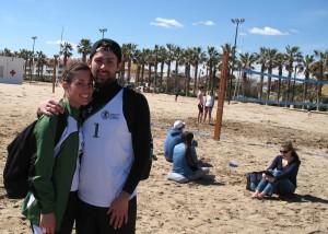 Equipo mixto de Voley Playa formado por Giulia y Matteo