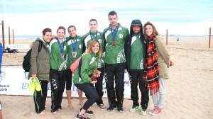 Representantes UCV en el CADU de Voley Playa