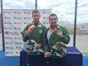 Foto2: Jorge Pascual y Luis Parra con la medalla de bronce