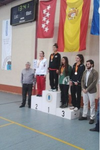 Diana Victoria en el podio.