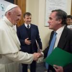 El Papa recibe en audiencia al rector tras la firma del convenio de creación en la UCV de la Cátedra Abierta Scholas Occurrentes