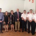 Reunión entre el Consejo Nacional de Bomberos de Argentina y la UCV.