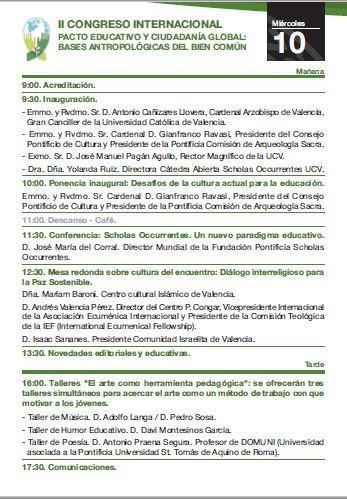 Programa II Congreso 1
