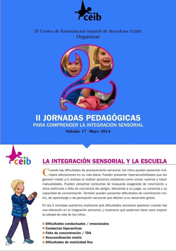 Jornadas integración sensorial. Terapia Ocupacional