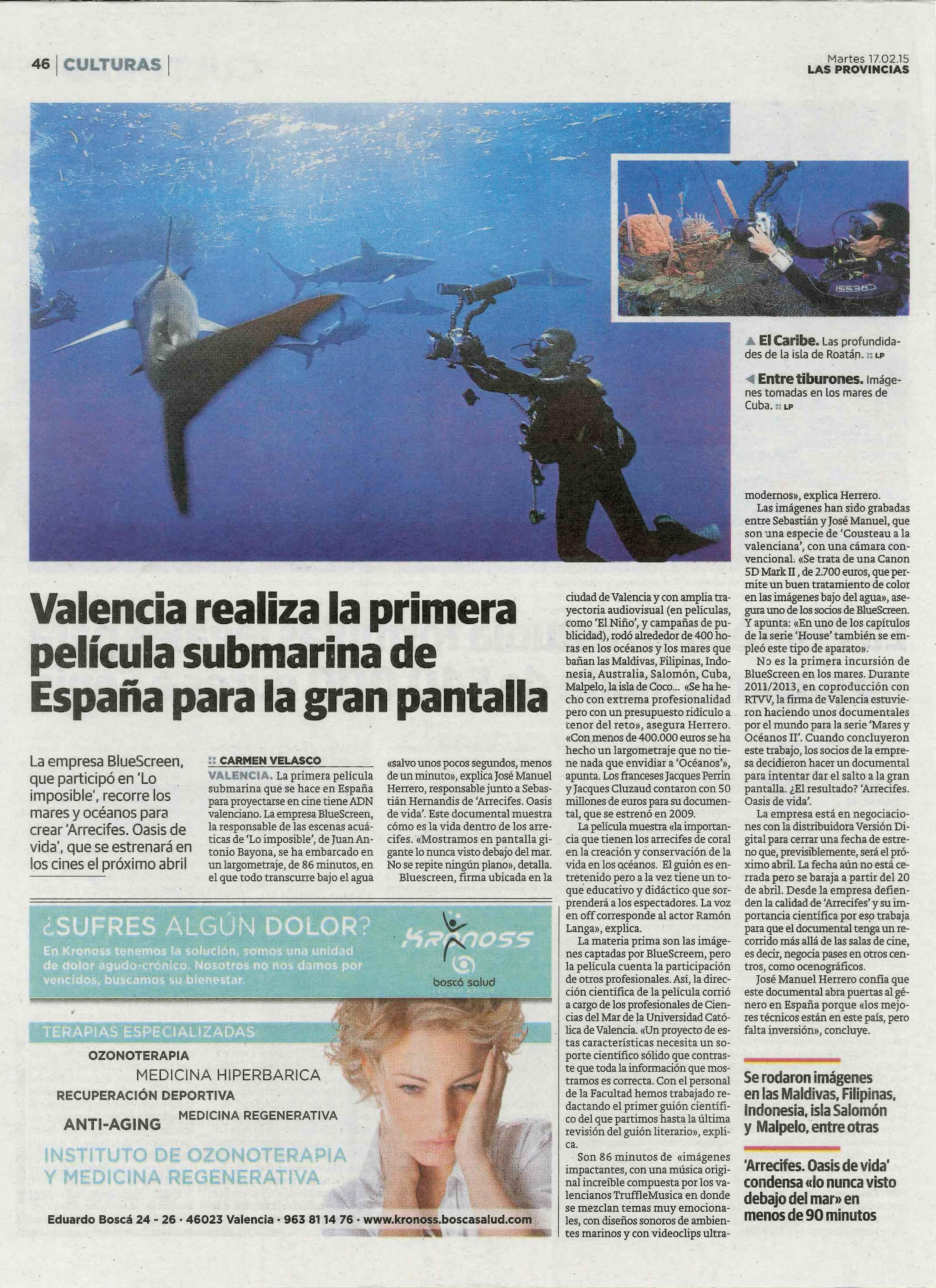 película submarina española que ha contado el asesoramiento de la UCV