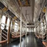 Leyendo en el metro de Nueva York
