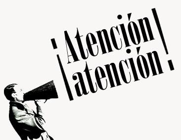 Megáfono Atención