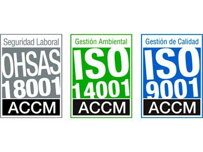 Certificados de Calidad, Medio Ambiente y Prevención de Riesgos Laborales, ISO y OHSAS
