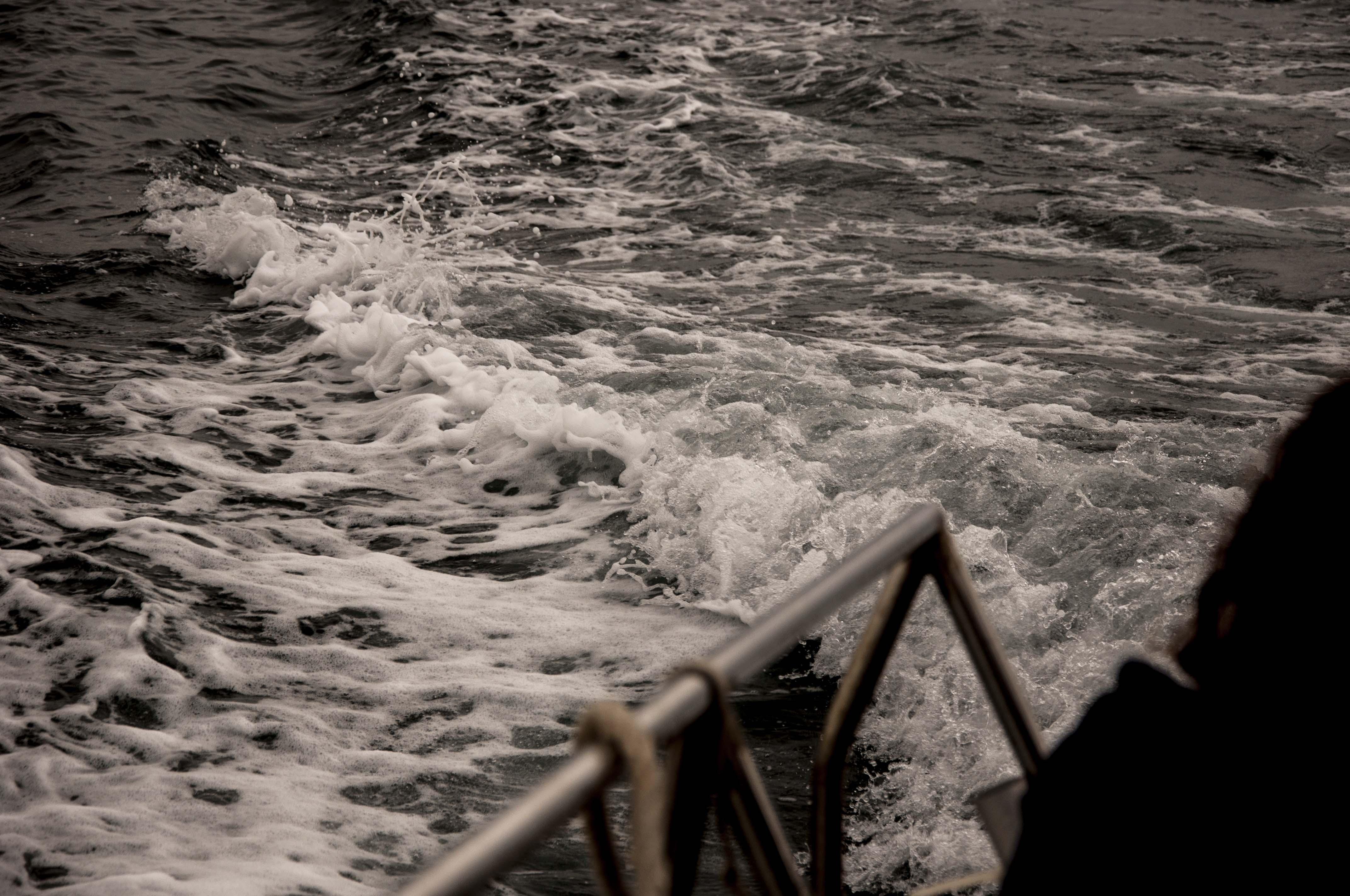 Navegando hacia uno de los  puntos de muestreo